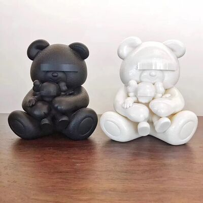 KAWS, 'Undercover Bear Set (White and Black)', 2009