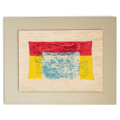 Ed Rossbach, 'Turkish Embroidery Red Yellow Blue', 1972