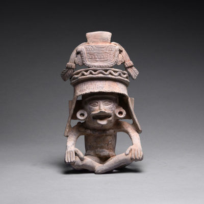 Unknown Pre-Columbian, 'Veracruz Seated Figure', 200-600