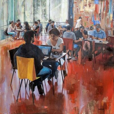 Tomoko Momoki, 'Art Caffe', 2019