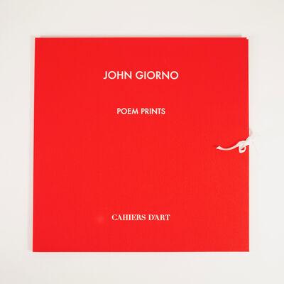 John Giorno, 'POEM PRINTS', 2017