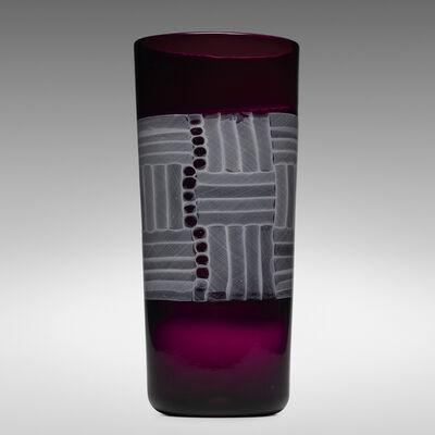 Paolo Venini, 'Monumental Zanfirico Mosaico vase', 1954
