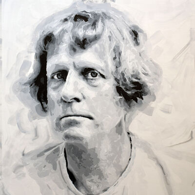 Rob and Nick Carter, 'Grayson Perry Robot Painting, Painting time: 30:05:38 Stroke count: 8,751 17-19 January 2020', 2020