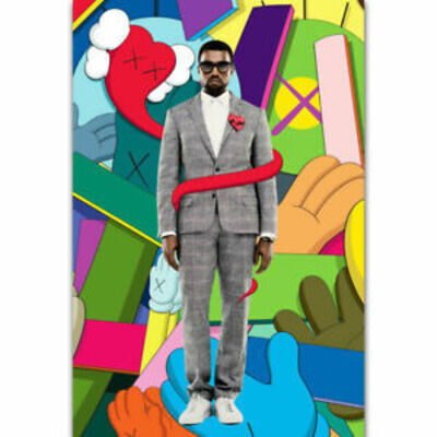 KAWS, 'KAWS X Kanye West 808s & Heartbreak Poster ', 2008