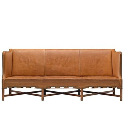 Kaare Klint, 'Kaare Klint Sofa Model 4118 in Mahogany and Original Cognac Leather', 1929