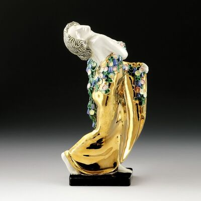Michael Powolny, 'Dancer, turned to the right', Design around 1907-manufactured until 1912