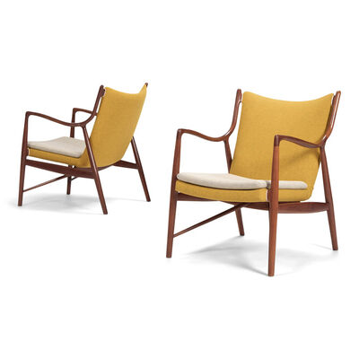 Finn Juhl, 'A pair of NV45 chairs', 1945