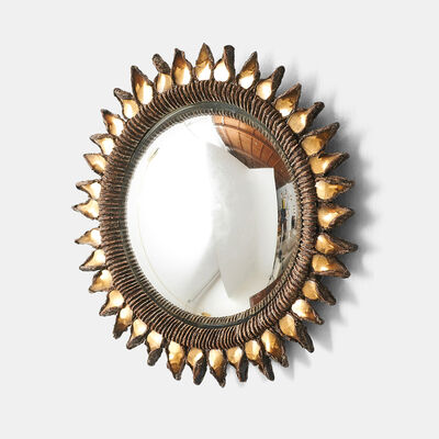 "Line Vautrin, 'Small ""Golden Thistle"" Mirror by Line Vautrin', 1955-1965"