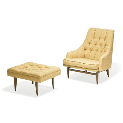 Kipp Stewart, 'Lounge chair and ottoman, Grand Rapids, MI'