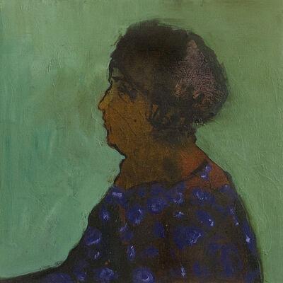 Jennifer Hornyak, 'Woman in Dress with Violet Pattern', 2017