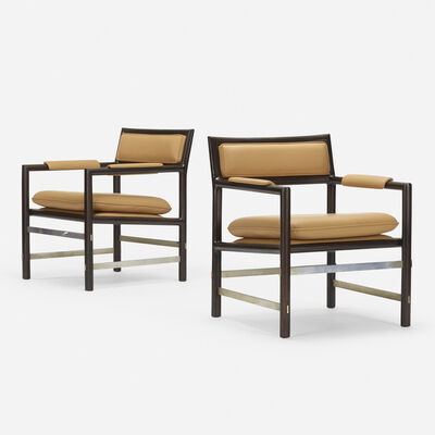 Edward Wormley, '979 armchairs, pair', c. 1970