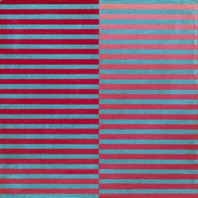 Dadamaino, 'Ricerca del colore. Rosso su celeste', 1966-68