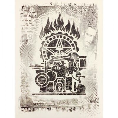 Shepard Fairey, 'Damaged Printing Press', 2019