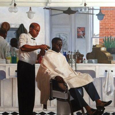 Kadir Nelson, 'Barbershop', 2014