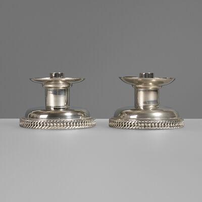 Hermès, 'Candleholders, pair', c. 1975