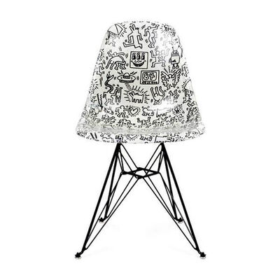 Keith Haring, 'Fiberglass Side Shell Eiffel Chair (faces)', 2016-2019