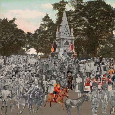 Peter Blake, 'London- Regent's Park- The Runaway Donkeys', 2012