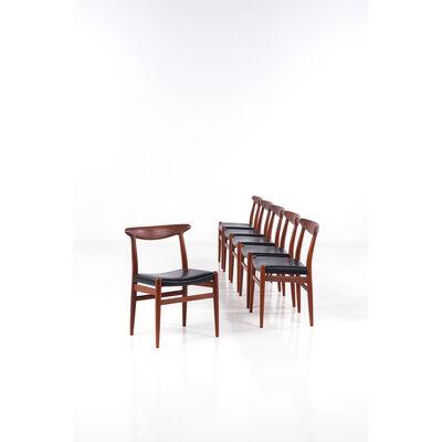 Hans Jørgensen Wegner, 'Set of six chairs', 1950