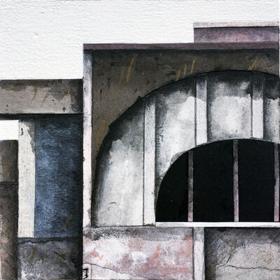 Seth Clark, 'Roof Top Blocks (in purple hues) no. 10', 2017