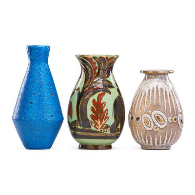 René Buthaud, 'Three vases, France', early to mid-20th C.