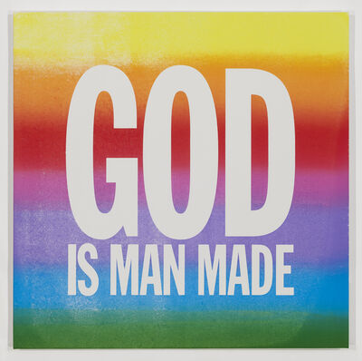 John Giorno, 'GOD IS MAN MADE', 2015