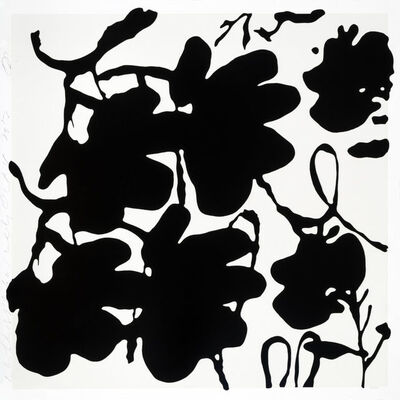 Donald Sultan, 'Lantern Flowers (Black and White)', 2017