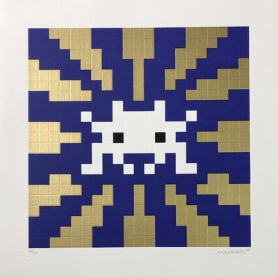 Invader, 'Sunset - Blue / Gold', 2018