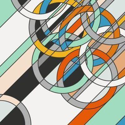 Sarah Morris, '1980 [Rings]', 2009