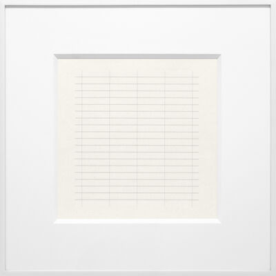 Agnes Martin, 'On a Clear Day #26', 1973