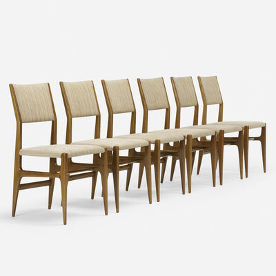 Gio Ponti, 'Dining chairs model 116, set of six', c. 1950