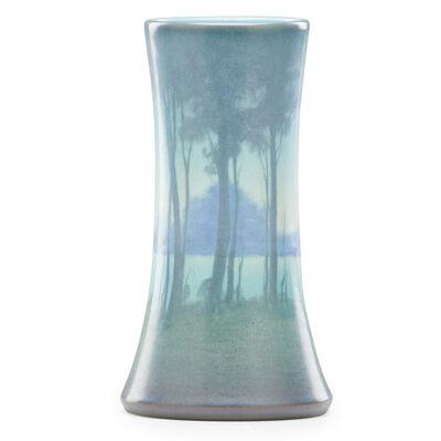 Rookwood Pottery, 'Scenic Vellum vase (uncrazed)', 1919