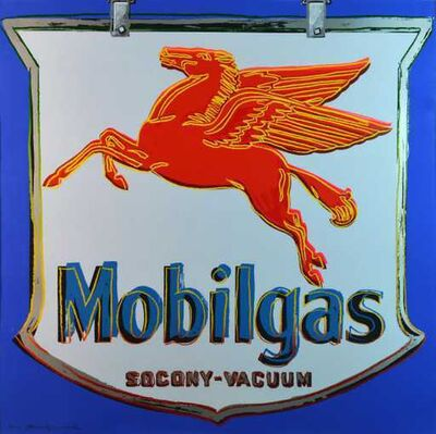 Andy Warhol, 'Mobilgas ', 1985