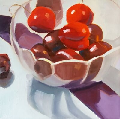 Yuri Tayshete, 'Cherries in a glass bowl', 2019