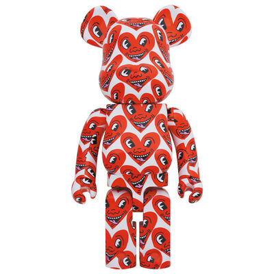 BE@RBRICK, 'KEITH HARING V6 HEARTS 1000%', 2020