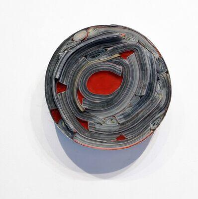 Carlos Sánchez Alonso, 'Palavras circulares encapsulados con rojo', 2020