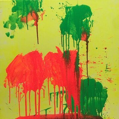 Ushio Shinohara, 'Red and Green on Yellow', 2018