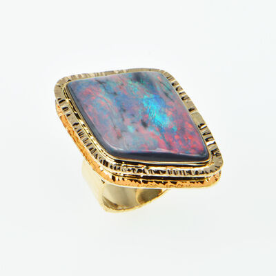 Michael Baksa, 'Black Opal ring'