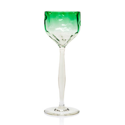 Koloman Moser, 'Wineglass Koloman Moser Bakalowits Vienna Meyr's Neffe ca. 1900', ca. 1900