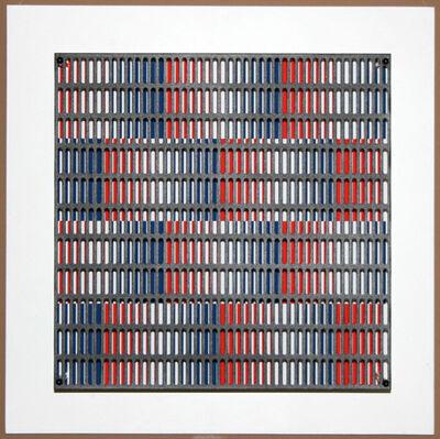 Antonio Asis, 'vibration bandes bleus et rouges', 2010