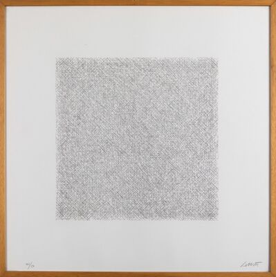Sol LeWitt, 'Lines of 1 Inch in 4 Directions and All Combinations, Plate #15', 1971
