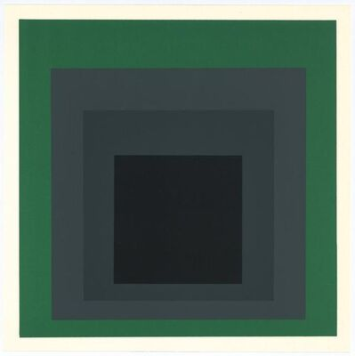 Josef Albers, 'Homage to the Square: Grisaille and Patina', 1977