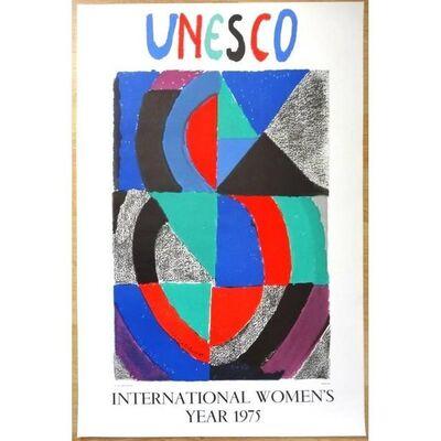 """Sonia Delaunay, 'Poster Original """"Journée Internationale de la Woman 1975"""" after Sonia Delaunay', 1975"""