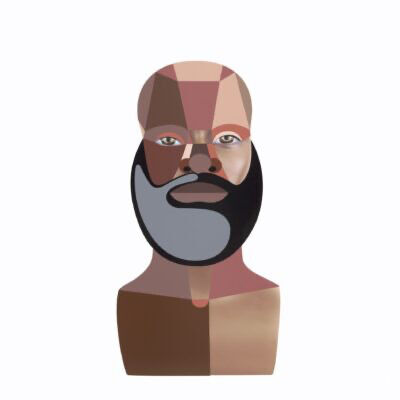 Derrick Adams, 'Style Variation 4 (Beard)', 2020