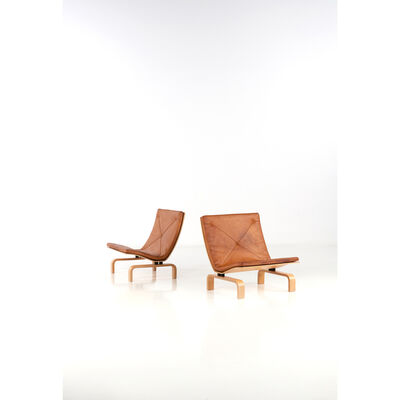 Poul Kjærholm, 'PK Model 27 Pair of armchairs', around 1971