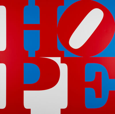 Robert Indiana, 'HOPE Red/Blue/White', 2017