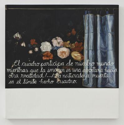 Sandra Gamarra, 'Escritura sobre naturaleza muerta III', 2019