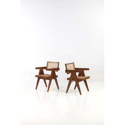 Pierre Jeanneret, 'Office chair - Pair of armchairs', 1955-1956
