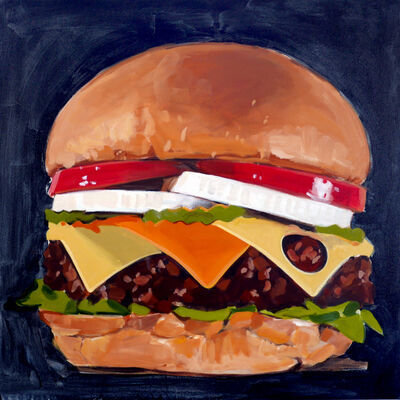 Walter Robinson, 'Unidentified Cheeseburger', 2018