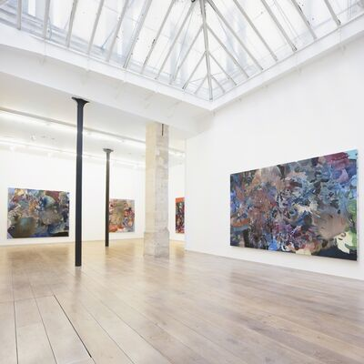 "OLYMPE RACANA-WEILER, ""NEON DRIVING"", installation view"