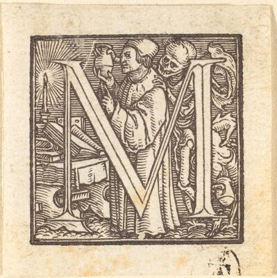 Hans Holbein the Younger, 'Letter M'